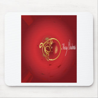 Red Christmas Jingle Bells Have a Blessed Nice Day Mouse Pad