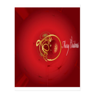 Red Christmas Jingle Bells Have a Blessed Nice Day Postcard