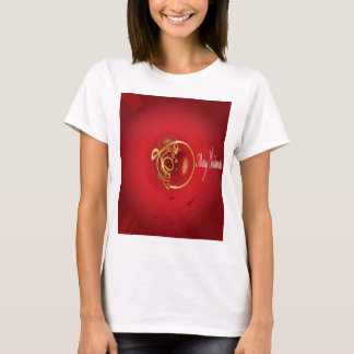 Red Christmas Jingle Bells Have a Blessed Nice Day T-Shirt