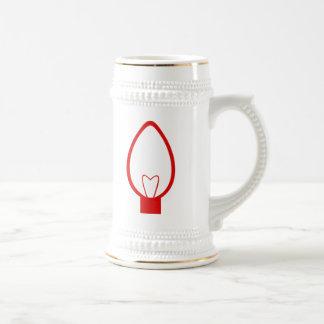 Red Christmas Light Bulb Coffee Mug