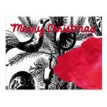 Red Christmas Llama - Llama Holiday Post Cards
