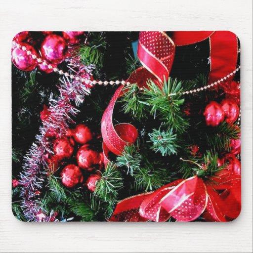red christmas mousepad