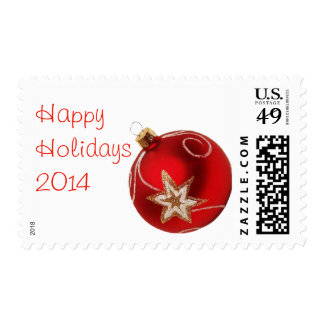 Red Christmas Ornament Happy Holiday  Stamps