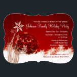 """Red Christmas Ornament Holiday Party Invitations<br><div class=""""desc"""">Red Christmas Ornament Holiday Party Invitations. These beautiful red ornament Christmas invitations are perfect for Christmas dinner party invitations, holiday gift exchange invitations, Christmas fundraisers, holiday ball invitations, and other events held during the month of December. Just use the template fields to add your own event information. The background is...</div>"""