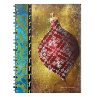 Red Christmas Ornament Notebook
