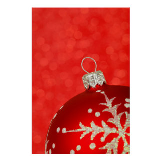 Red Christmas Ornament Print