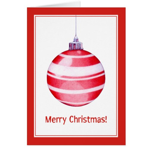Red Christmas Ornament Red Card