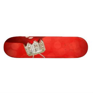 Red Christmas Ornament Skate Deck