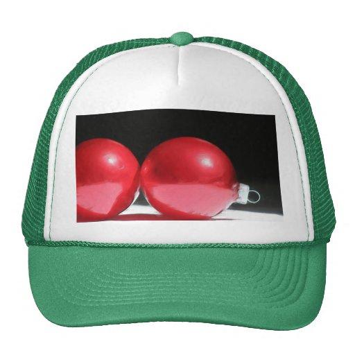 Red Christmas ornaments cap Trucker Hat