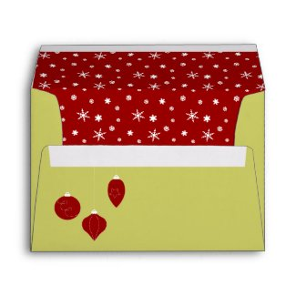 Red Christmas Ornaments envelope