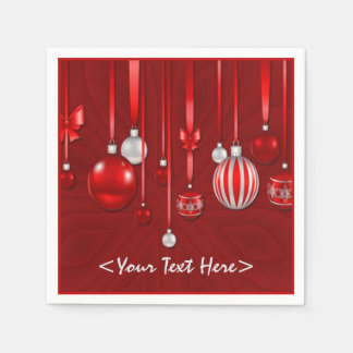 Red Christmas Ornaments Napkins