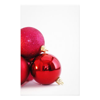 Red Christmas Ornaments Stationery