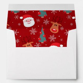 Red Christmas pattern Envelope