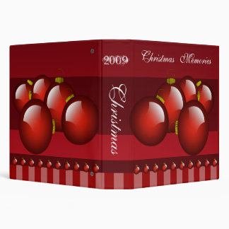 Red Christmas Photo Binder With Stripes