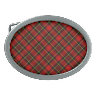 red Christmas plaid belt buckle