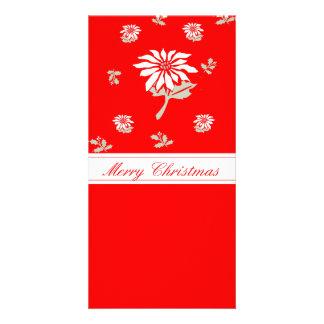 Red Christmas Poinsettia Card