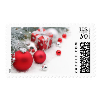 Red Christmas Postage