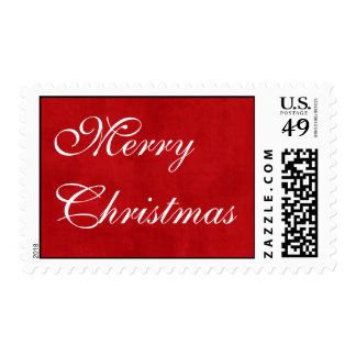 Red Christmas Postage Stamps