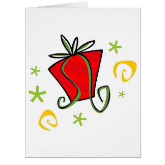 Red Christmas Present Greeting Card