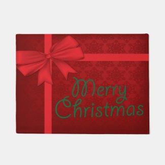 Red Christmas Present Doormat