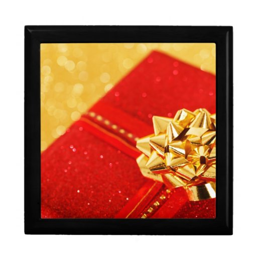 Red Christmas Present Jewelry Boxes