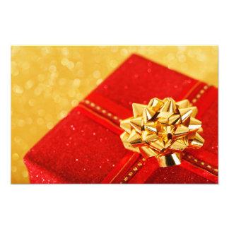 Red Christmas Present Photographic Print