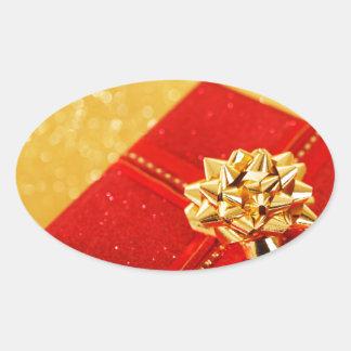 Red Christmas Present Sticker