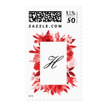 Red Christmas Roses Holiday Stamp