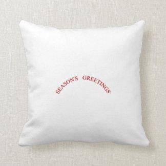 Red Christmas Seasons Greetings Throw Pillow