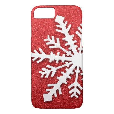Christmas Themed Red Christmas Sparkles iPhone 7 Case