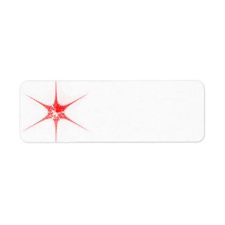 Red Christmas star Custom Return Address Label