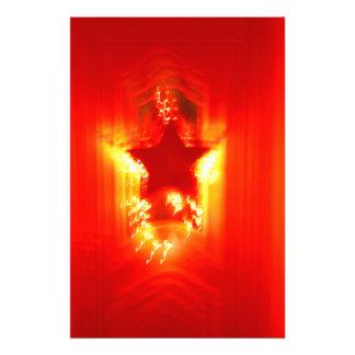 Red Christmas star Photo Print