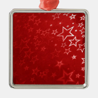 Red Christmas stars design Metal Ornament