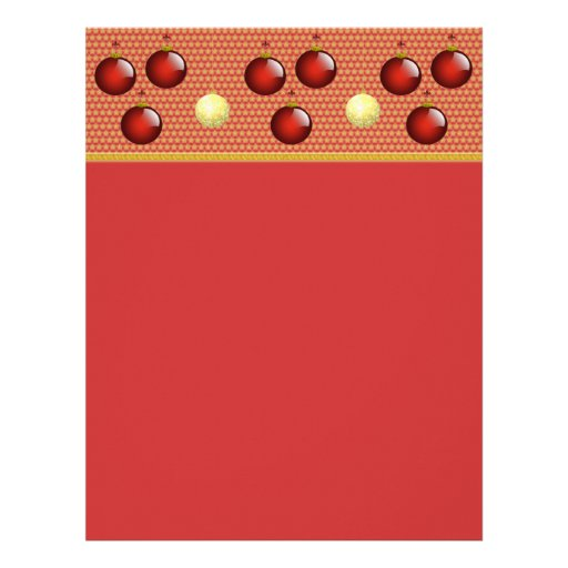 Red Christmas Stationery Letterhead Template | Zazzle