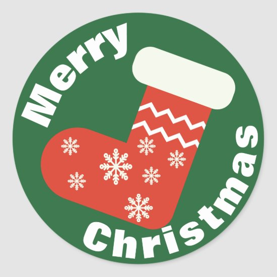 Red Christmas Stocking Sticker