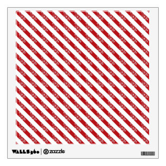 Red Christmas Stripes Room Decal