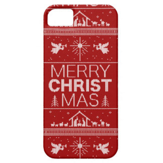 Red Christmas Sweater Elegant Religious Angels iPhone SE/5/5s Case