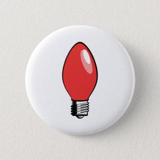Red Christmas Tree Bulb Pinback Button