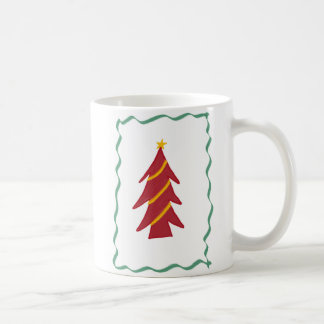 Red Christmas Tree Coffee Mug