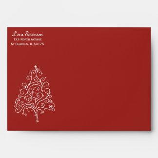 Red Christmas Tree Envelope