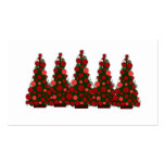 Red Christmas Tree Gift Tag Double-Sided Standard Business Cards (Pack Of 100)