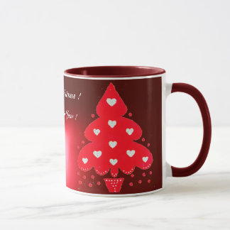 RED CHRISTMAS TREE HOLIDAY PARTY red Mug