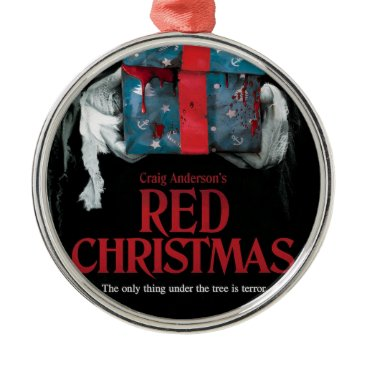 Halloween Themed Red Christmas Tree Ornament