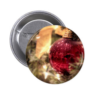red christmas tree ornament festive button