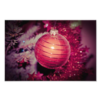 Red Christmas tree ornament Photo