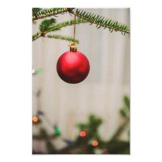 Red Christmas tree ornament Art Photo