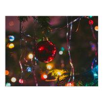 Red Christmas Tree Ornament Postcard