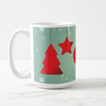 Red Christmas Tree Ornaments  Green Mug