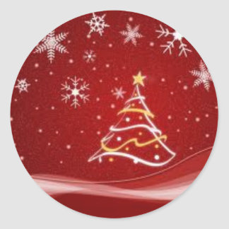 Red Christmas Tree Sticker