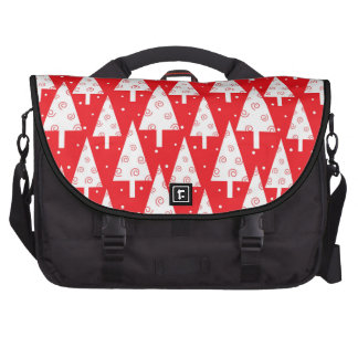 Red Christmas Trees Pattern Laptop Bags